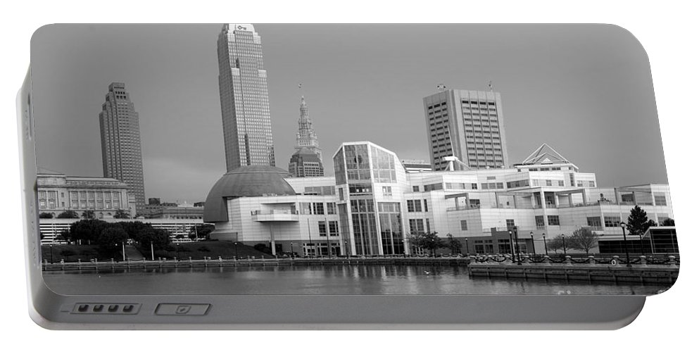 Cleveland Portable Battery Charger featuring the photograph Great Lakes Science Center Cleveland by Bill Cobb
