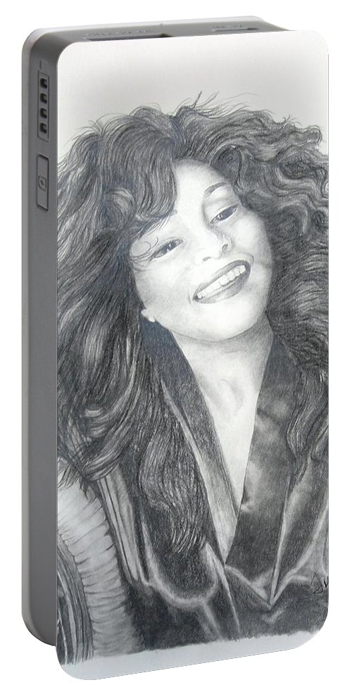 Celebrity Prints Portable Battery Charger featuring the painting Great Morning by Joette Snyder