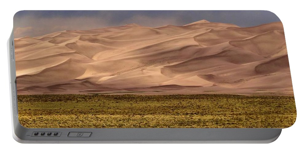Great Sand Dunes In Colorado Portable Battery Charger featuring the photograph Great Sand Dunes In Colorado by Dan Sproul