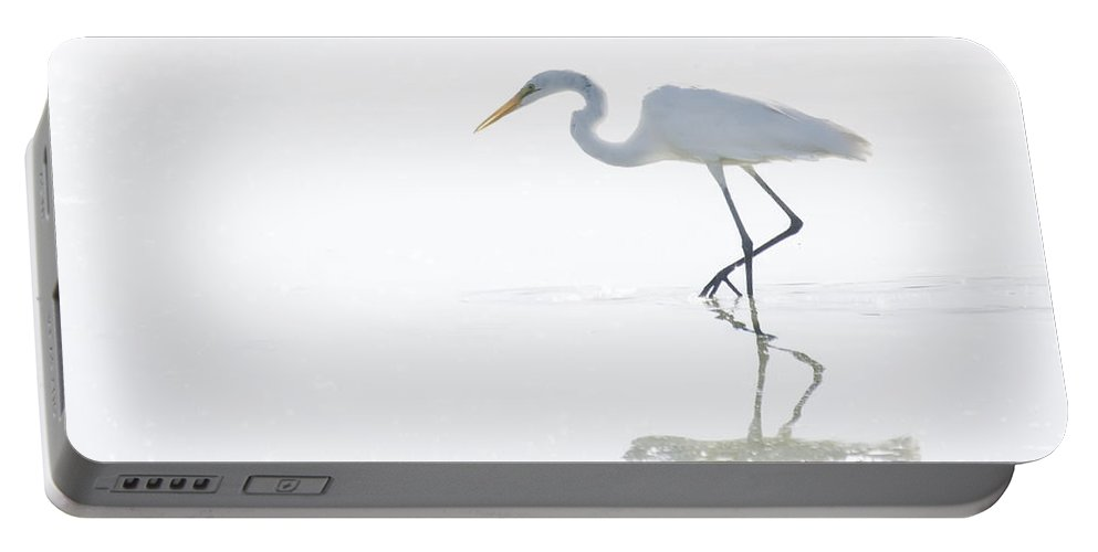 Great Egret Portable Battery Charger featuring the photograph Great White Egret Reflection by Saija Lehtonen