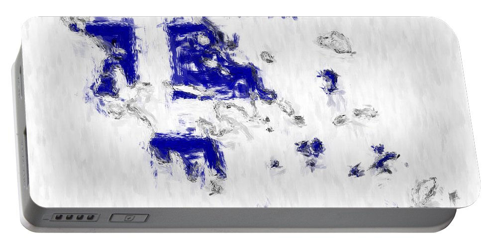 Greece Portable Battery Charger featuring the photograph Greece Painted Flag Map by Antony McAulay