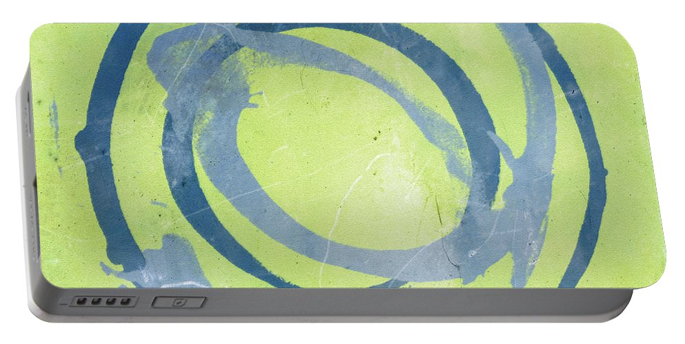 Green Portable Battery Charger featuring the painting Green Blue by Julie Niemela
