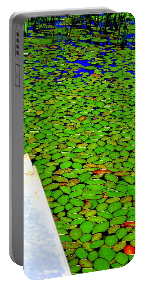 Canoeing Portable Battery Charger featuring the photograph Green Dream by Zafer Gurel