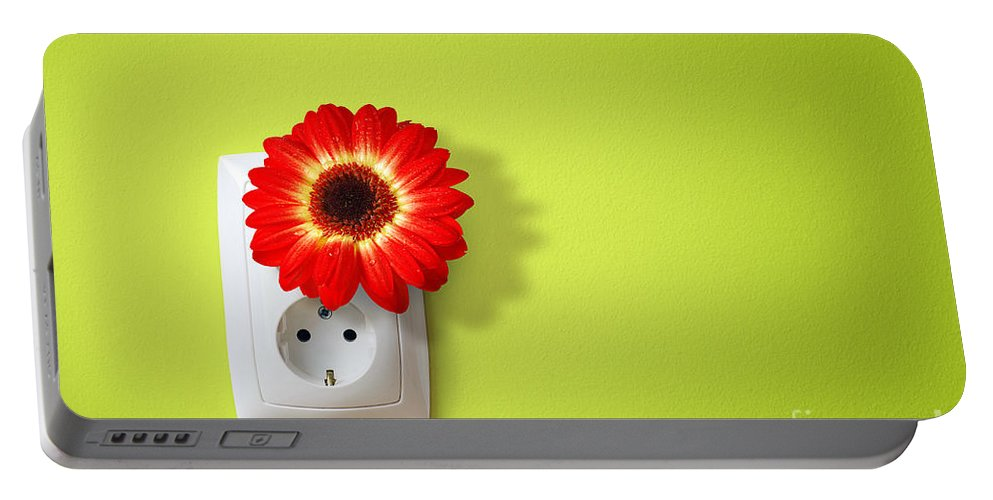 Alternative Portable Battery Charger featuring the photograph Green Electricity by Carlos Caetano