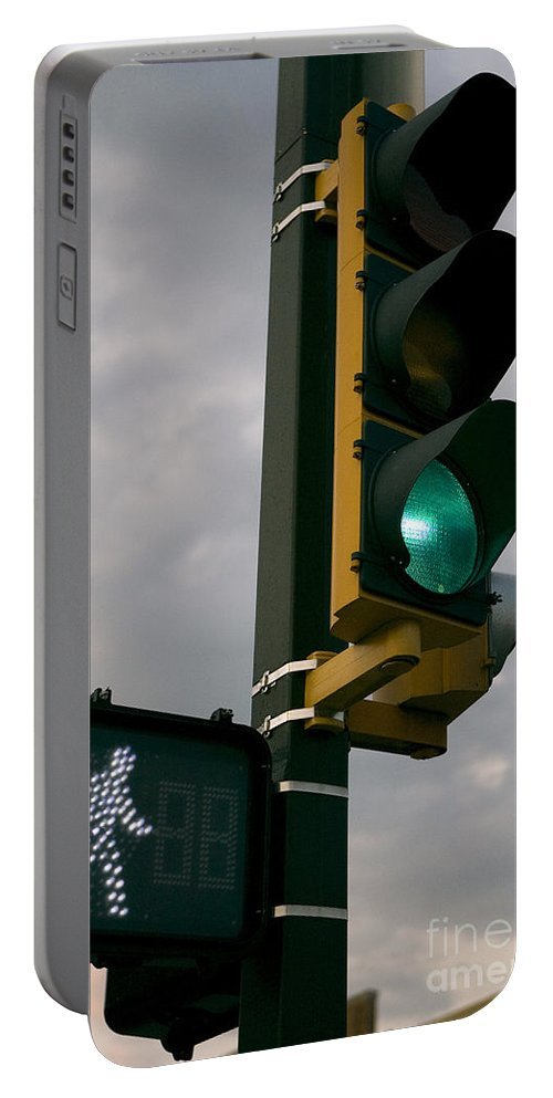 Green Light Portable Battery Charger featuring the photograph Green Light Walk by Jason O Watson