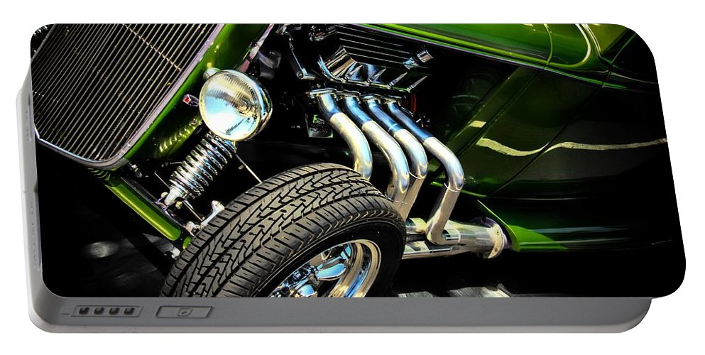 Hot Rod Portable Battery Charger featuring the photograph Green Machine by Aaron Berg
