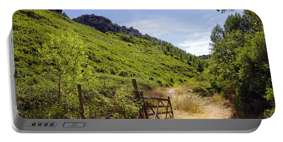 Background Portable Battery Charger featuring the photograph Green Valley by Carlos Caetano