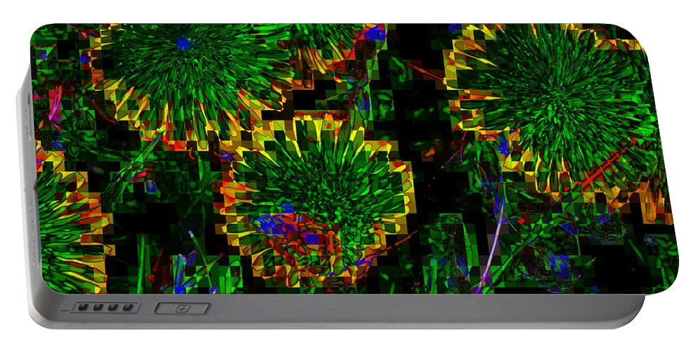 Green Portable Battery Charger featuring the photograph Greeness by Kathy Barney
