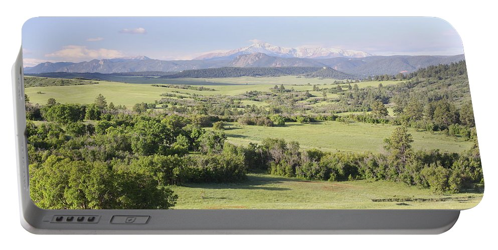 Colorado Portable Battery Charger featuring the photograph Greenland Ranch by Eric Glaser