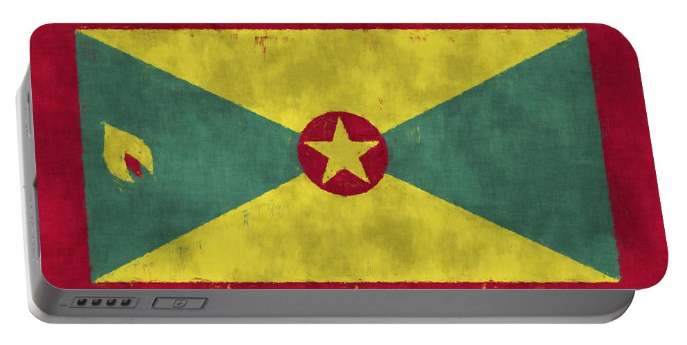 Aruba Portable Battery Charger featuring the digital art Grenada Flag by World Art Prints And Designs