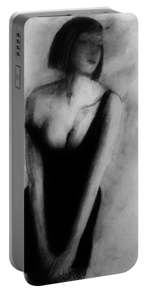 Figure Portable Battery Charger featuring the drawing Gretta by Michael Cross