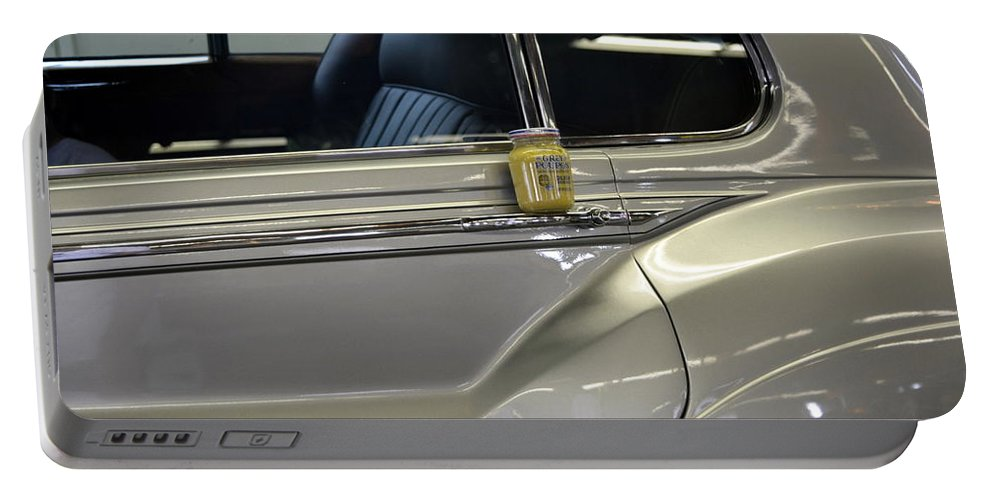 Rolls Royce Portable Battery Charger featuring the photograph Grey Poupon And Rolls Royce by Kathy Barney