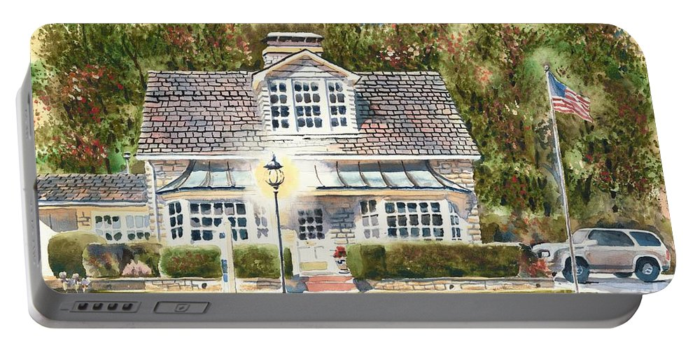 Greystone Inn Ii Portable Battery Charger featuring the painting Greystone Inn II by Kip DeVore