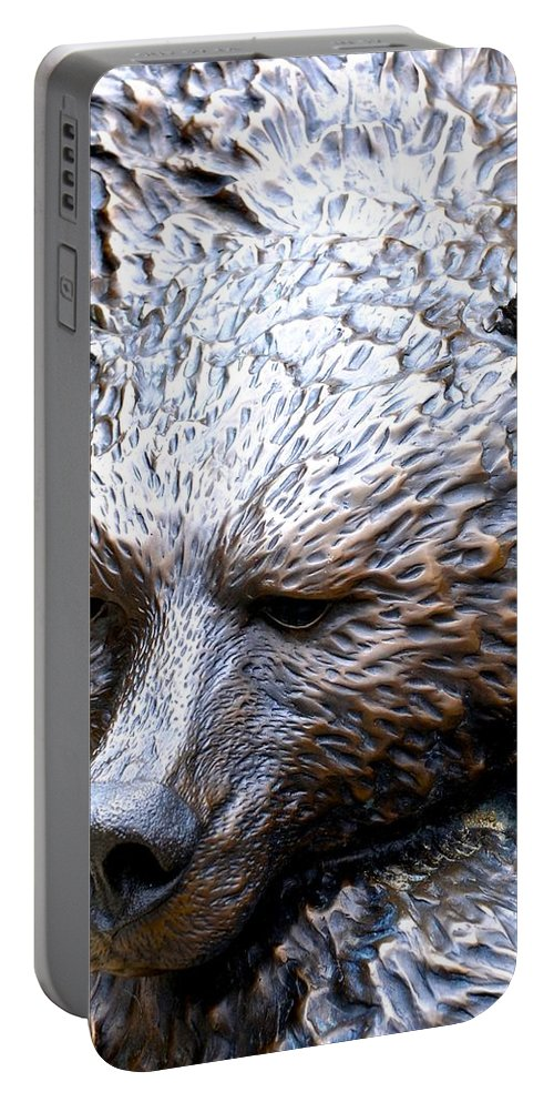 Grizzly Bear Portable Battery Charger featuring the photograph Grizzly by Charlie and Norma Brock