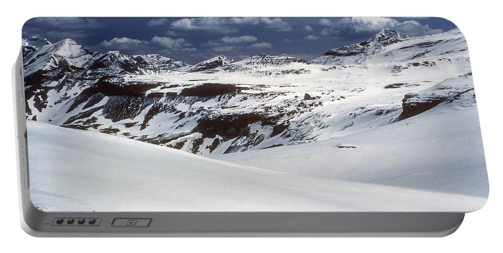 Mountain Tyrolean Mountains Snow Northern Italian Alps Snowscape Snowscapes Rock Landscape Landscapes Cloud Clouds Snow Grosglockner South Tyrol Portable Battery Charger featuring the photograph Grosglockner by Bob Phillips