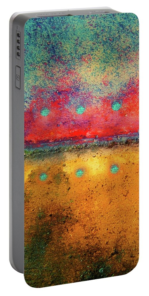 Texture Portable Battery Charger featuring the photograph Grounded by Tara Turner