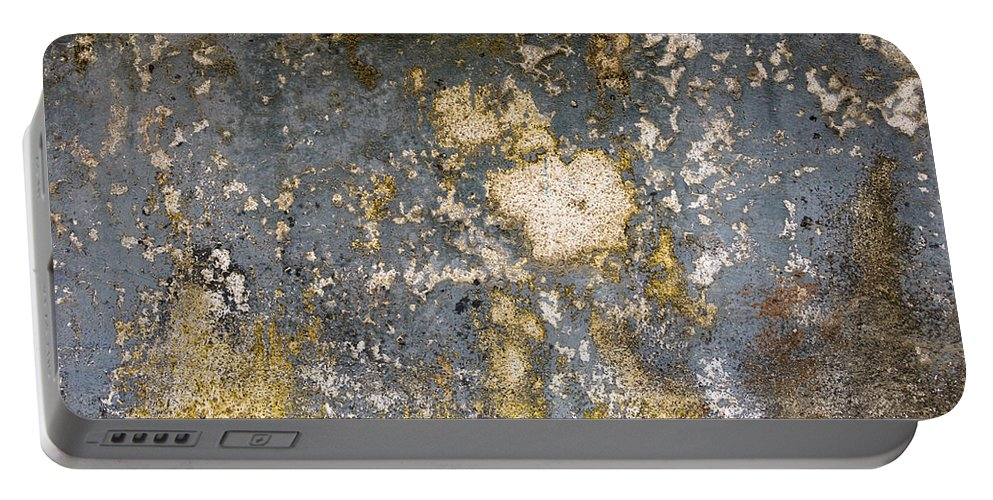 Grunge Portable Battery Charger featuring the photograph Grungy Cement Wall by Dutourdumonde Photography