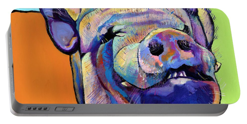 Pat Saunders-white Canvas Prints Portable Battery Charger featuring the painting Grunt  by Pat Saunders-White