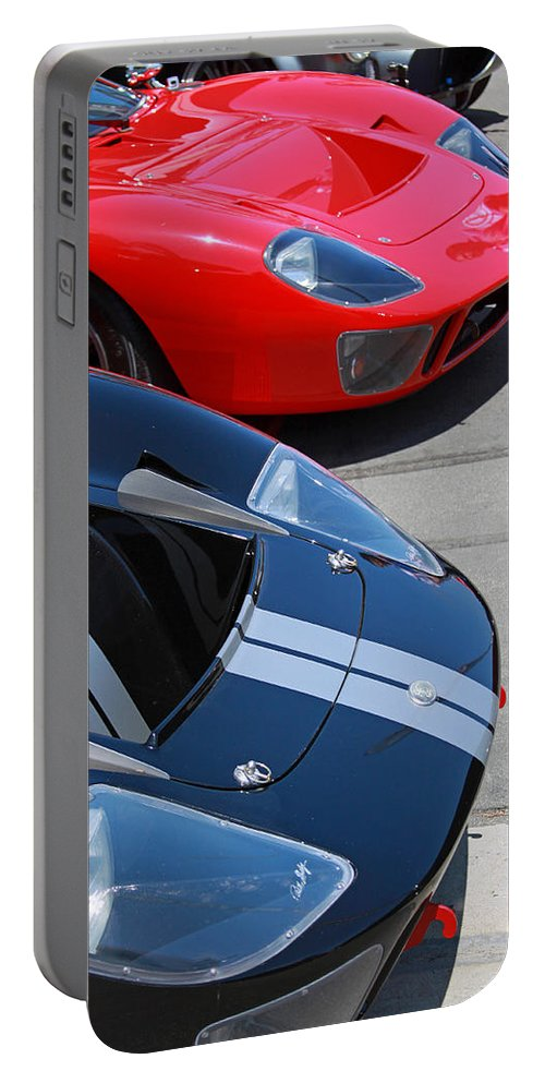 Ford Gt40 Portable Battery Charger featuring the photograph Gt40s by Shoal Hollingsworth