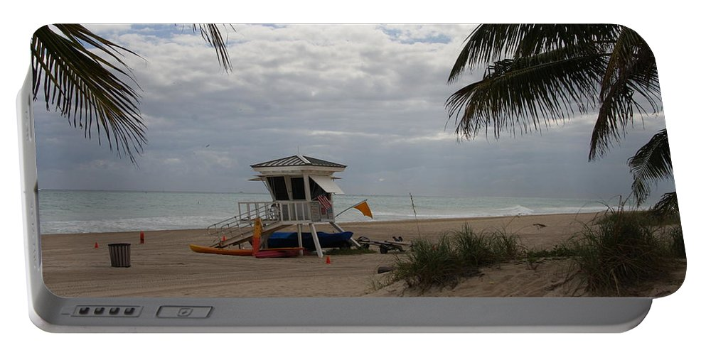 Baywatch Portable Battery Charger featuring the photograph Guarded Area by Christiane Schulze Art And Photography