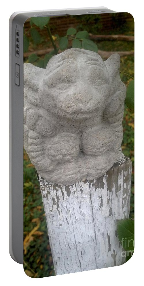 Fence Post Portable Battery Charger featuring the photograph Guard by Joseph Yarbrough