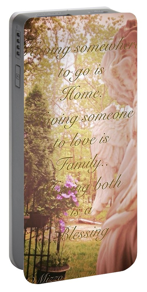 Guardian Portable Battery Charger featuring the photograph Guardian Angel Blessings by Georgina Mizzi