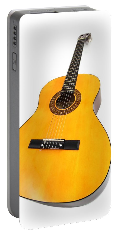 Guitar Portable Battery Charger featuring the photograph Guitar by FL collection