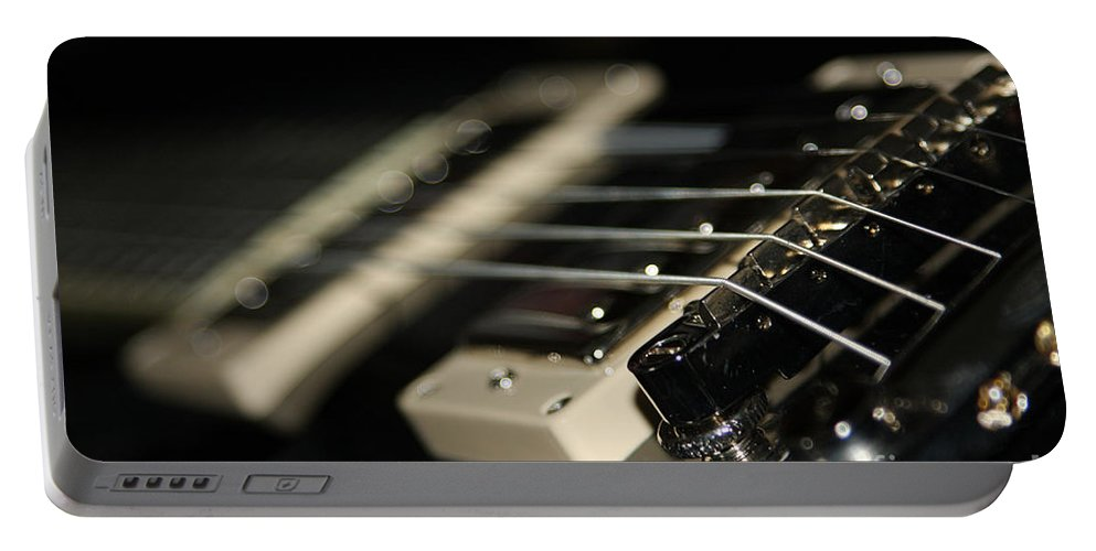Guitar Portable Battery Charger featuring the photograph Guitar Glance by Karol Livote