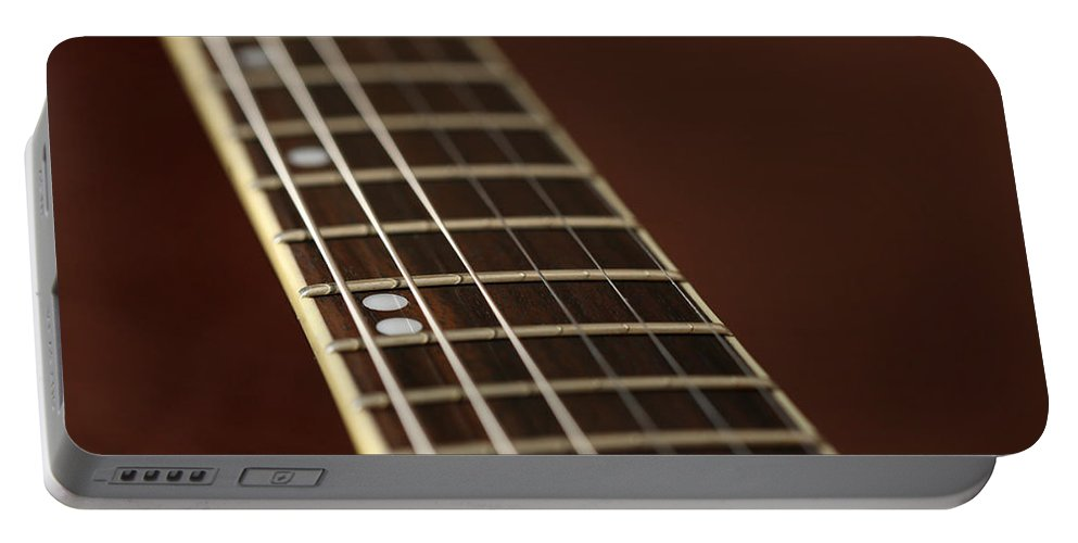 Music Portable Battery Charger featuring the photograph Guitar Neck by Karol Livote