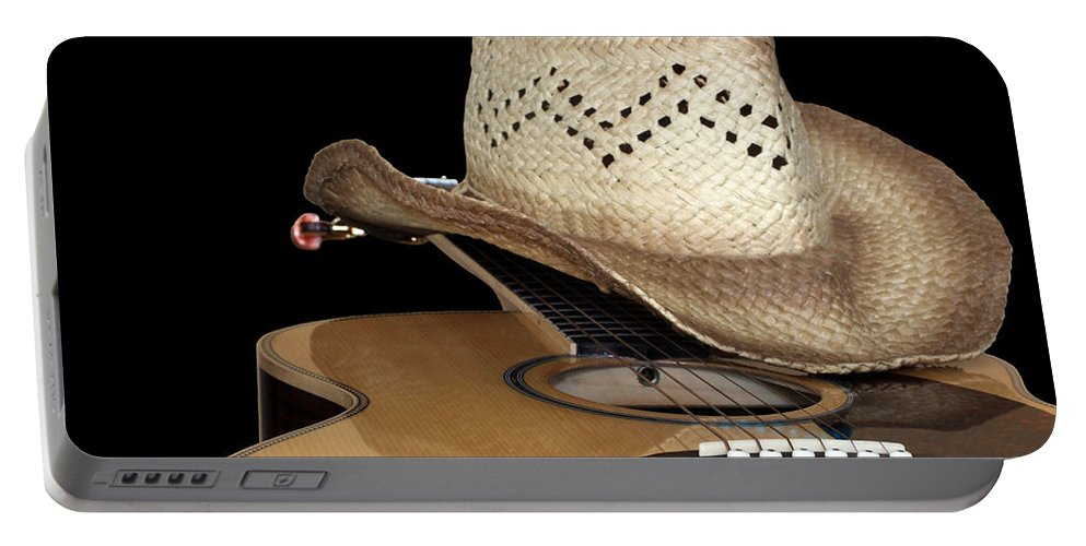 Abstract Portable Battery Charger featuring the photograph Guitar by Paul Fell