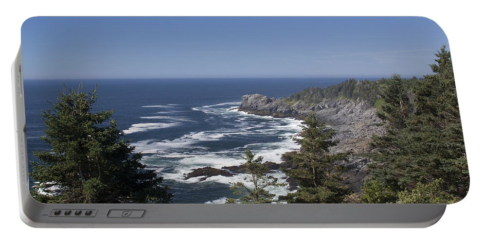 Gull Portable Battery Charger featuring the photograph Gull Rock And Burnt Head by Jean Macaluso