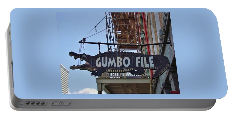 New Orleans Portable Battery Charger featuring the photograph Gumbo File by Margaret Bobb