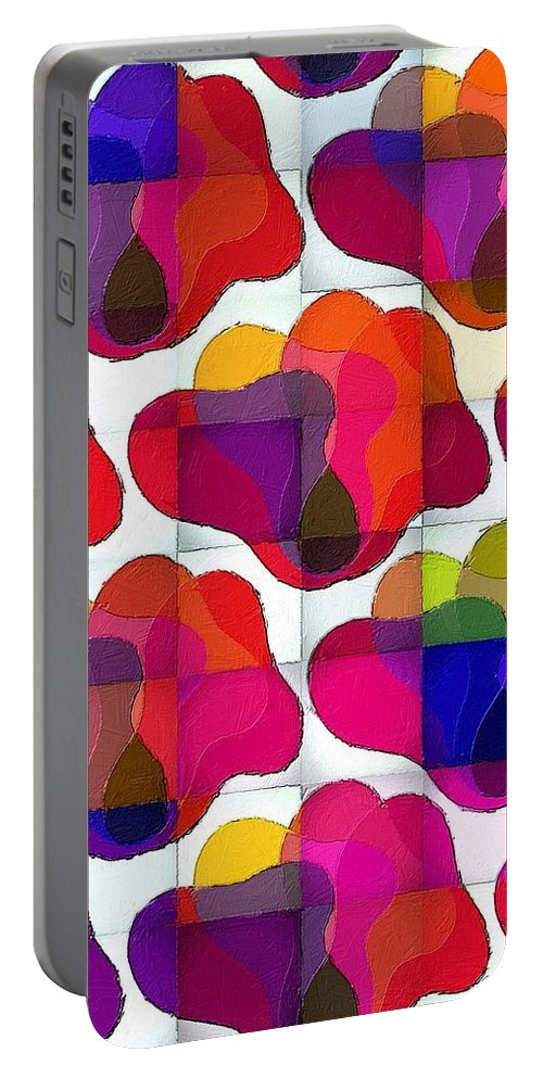 Gummy Portable Battery Charger featuring the painting Gummy Bear Pop Art by Florian Rodarte