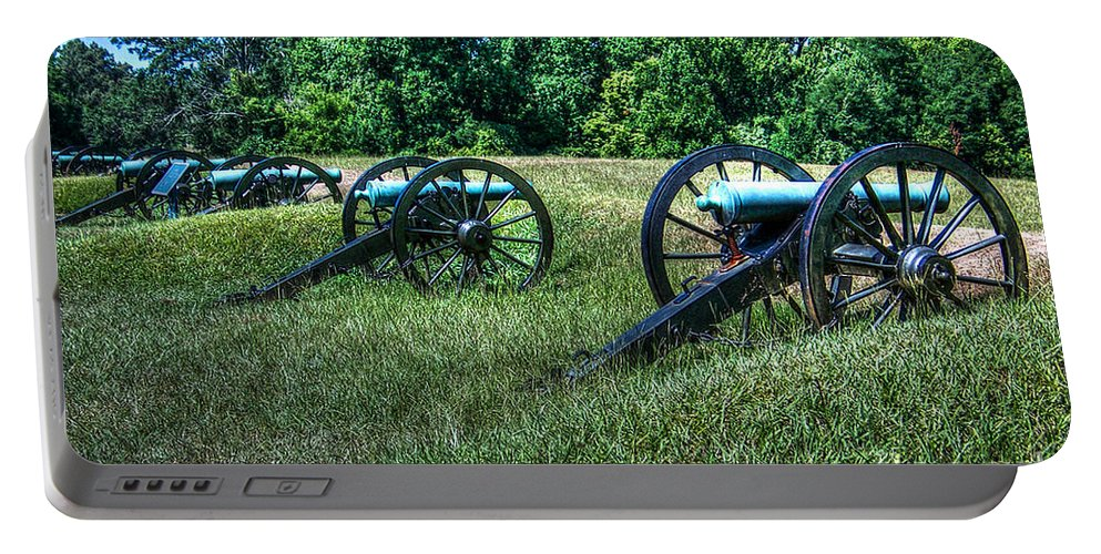 Vicksburg Portable Battery Charger featuring the photograph Guns Of Vicksburg by Tommy Anderson