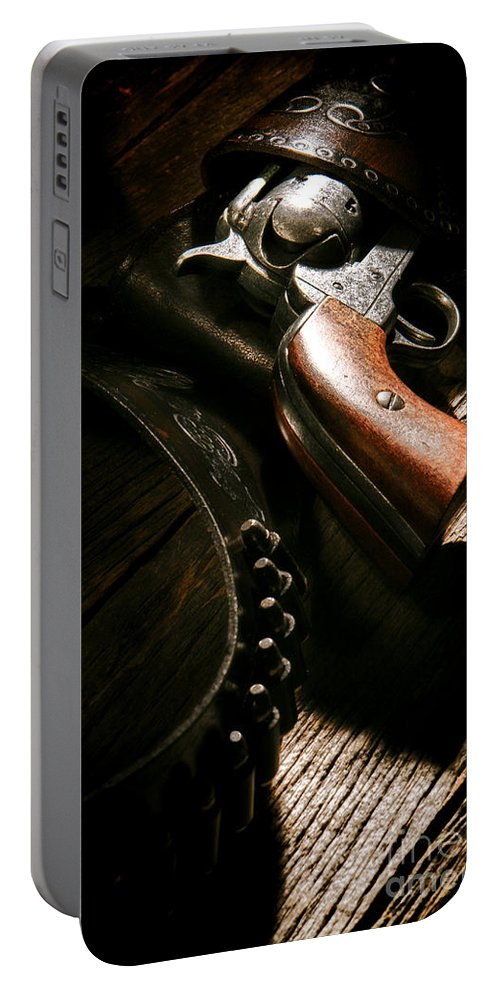 Gun Portable Battery Charger featuring the photograph Gunslinger Tool by Olivier Le Queinec