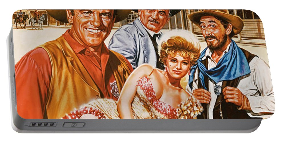 Portrait Portable Battery Charger featuring the painting Gunsmoke by Dick Bobnick