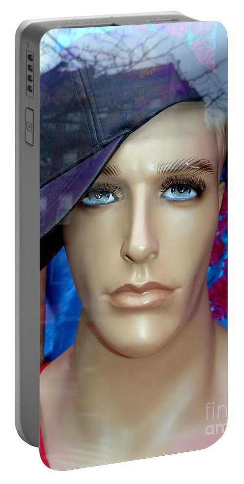 Mannequins Portable Battery Charger featuring the photograph Gym Boy Jim by Ed Weidman