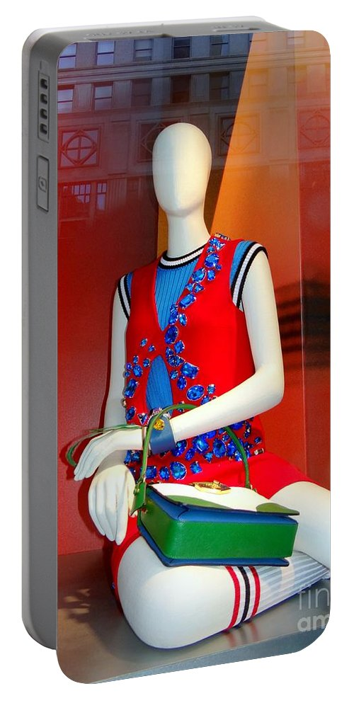 Mannequins Portable Battery Charger featuring the photograph Gym Socks And Jewels by Ed Weidman