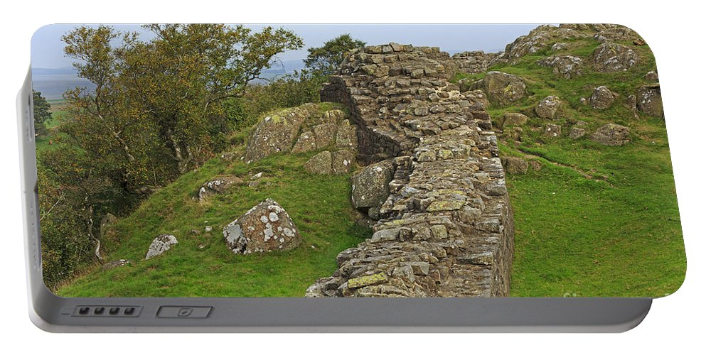 Hadrian's Wall Portable Battery Charger featuring the photograph Hadrian's Wall Near Walltown Quarry by Louise Heusinkveld
