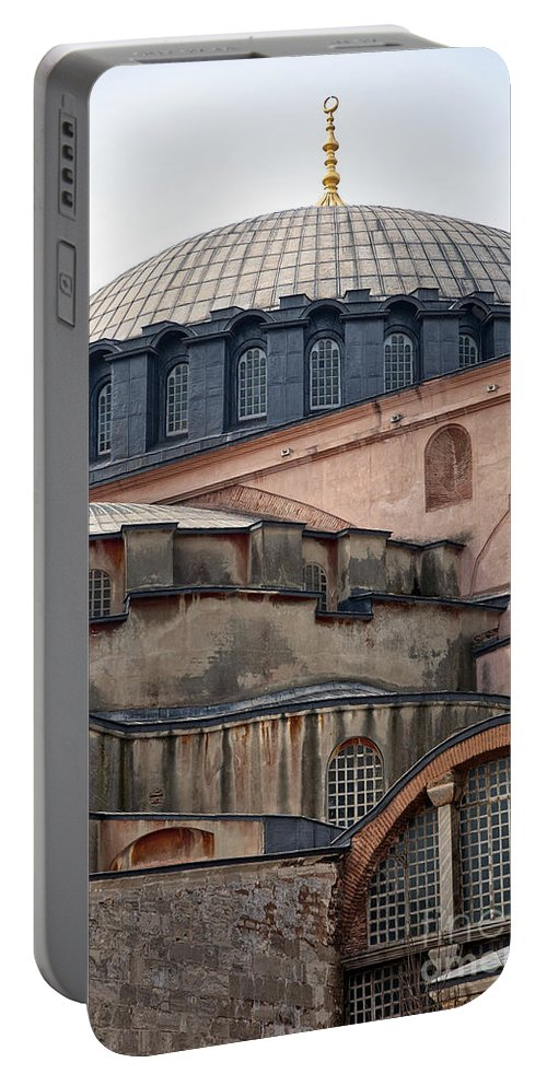 Istanbul Portable Battery Charger featuring the photograph Hagia Sofia Close Up by Antony McAulay