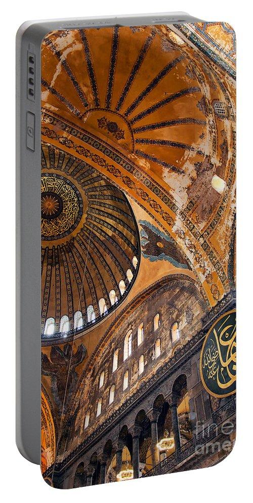 Hagia Portable Battery Charger featuring the photograph Hagia Sofia Interior 01 by Antony McAulay
