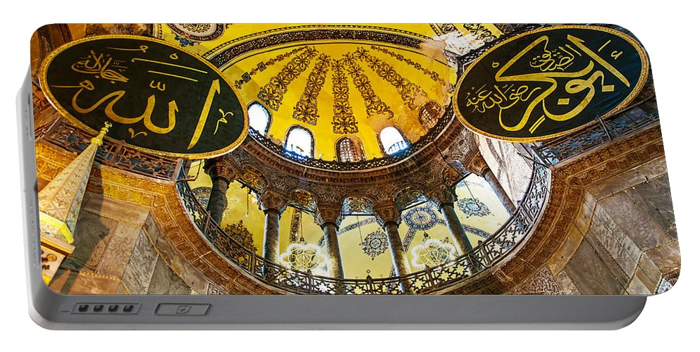 Hagia Portable Battery Charger featuring the photograph Hagia Sofia Interior 07 by Antony McAulay