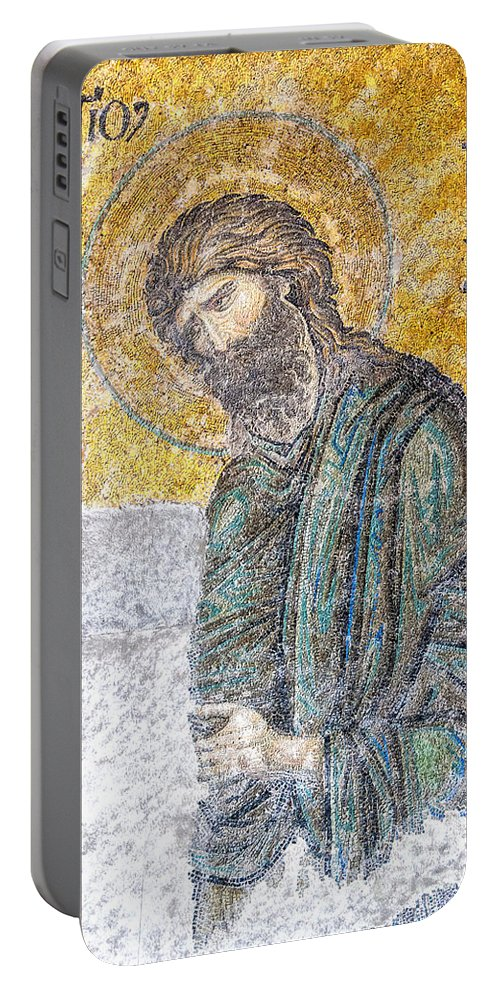 Istanbul Portable Battery Charger featuring the photograph Hagia Sofia Mosaic 12 by Antony McAulay