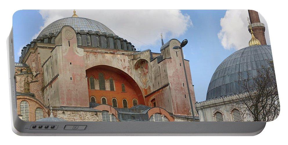 Turkey Portable Battery Charger featuring the photograph Hagia Sophia 02 by Antony McAulay
