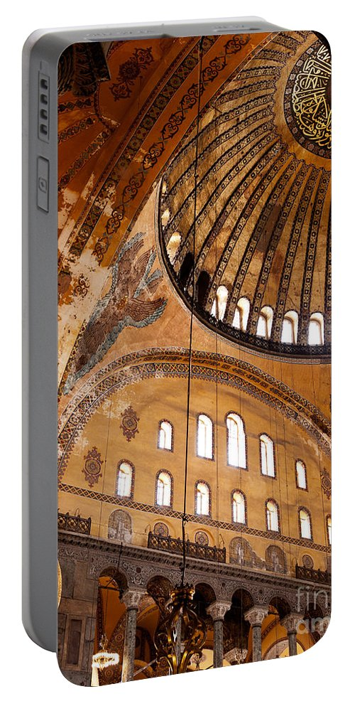 Istanbul Portable Battery Charger featuring the photograph Hagia Sophia Dome 03 by Rick Piper Photography