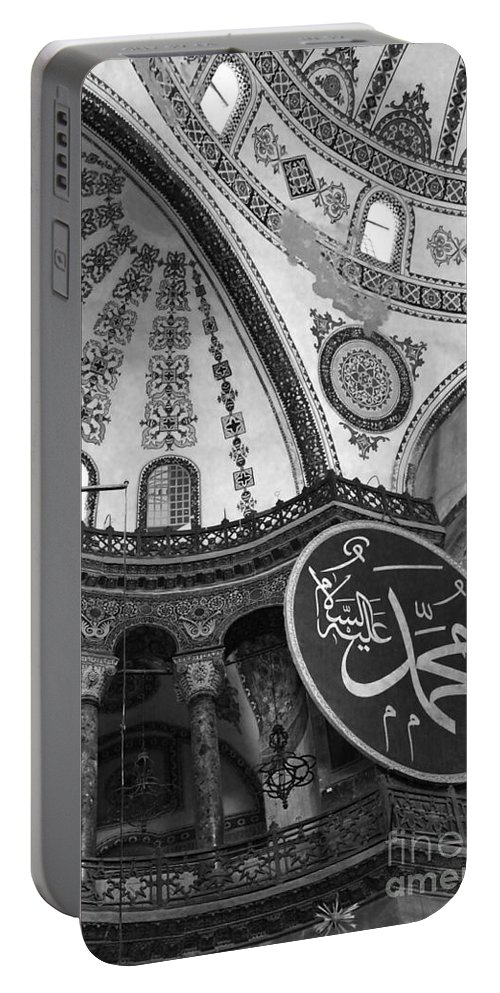Interior View Of The Hagia Sophia Portable Battery Charger featuring the photograph Hagia Sophia Dome Detail by Christiane Schulze Art And Photography