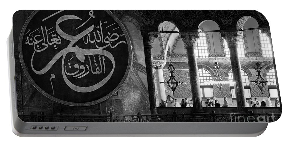 Istanbul Portable Battery Charger featuring the photograph Hagia Sophia Gallery 02 by Rick Piper Photography