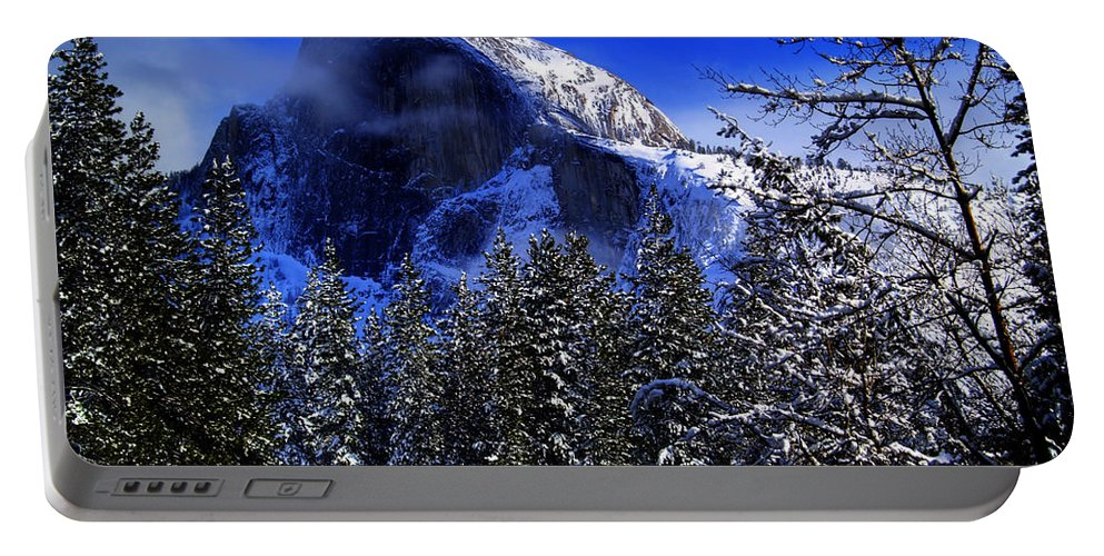 Yosemite Portable Battery Charger featuring the photograph Half Dome Clearing by Bill Gallagher