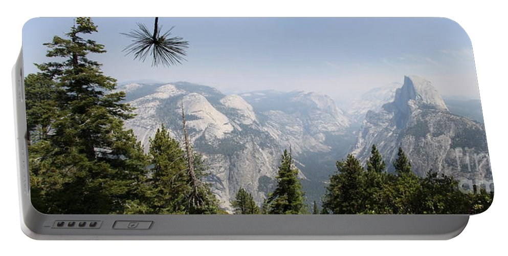 Glacier Point Portable Battery Charger featuring the photograph Half Dome Panorama View by Christiane Schulze Art And Photography