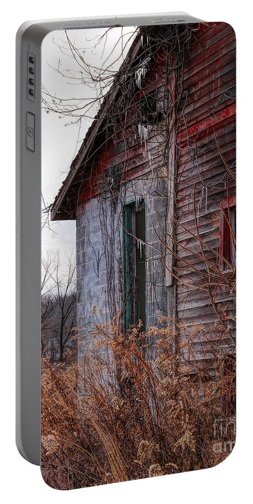 Red Barn Portable Battery Charger featuring the photograph Half by Rick Kuperberg Sr